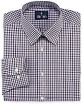 STAFFORD Stafford Travel Performance Super Shirt Long Sleeve Broadcloth Gingham Dress Shirt