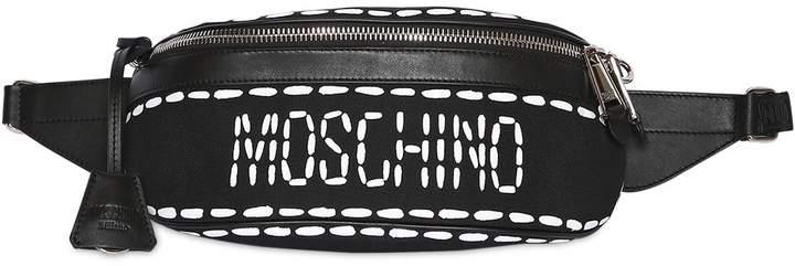 Moschino Stitched Logo Nylon Belt Bag
