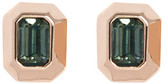 Vince Camuto Bezel Set Faceted Crystal Stud Earrings
