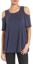 Bobeau Women's Cold Shoulder Flutter Sleeve Top