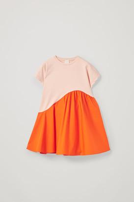 Cos Organic Cotton Contrast Panel Dress