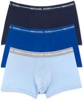 Michael Kors Men's Ultimate Cotton Stretch Trunks, 3-Pack