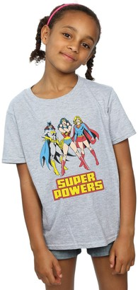 Dc Comics Girls Wonder Woman Super Power Group T-Shirt 7-8 Years Sport Grey