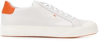 Santoni contrast counter sneakers