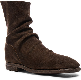 Guidi Calf Suede Boots in Brown | FWRD