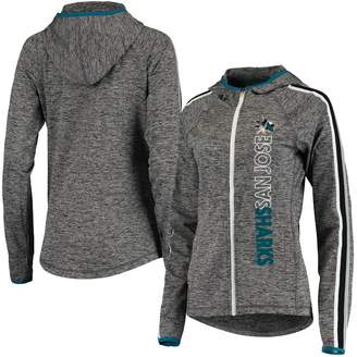 G Iii Women's G-III 4Her by Carl Banks Heathered Gray San Jose Sharks Free Agent Full-Zip Hoodie