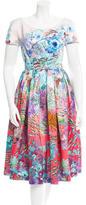 Mary Katrantzou Floral Print Midi Dress w/ Tags
