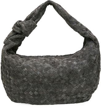 Bottega Veneta Jodi Large Intrecciato Suede Hobo Bag