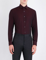 Duchamp Tailored-fit polka-dot pattern shirt