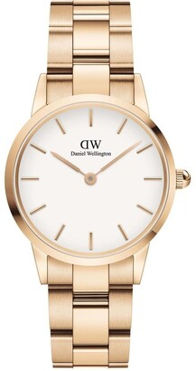 Daniel Wellington Iconic Link 28mm Rose Gold White Dial