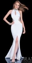 Terani Couture Illusion Beaded Belt Prom Dress