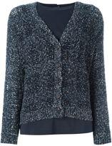 Brunello Cucinelli marled buttoned cardigan - women - Silk/Polyamide/Polyester/Wool - L