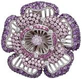 Judith Ripka Sterling Gemstone Flower Pin / Enhancer