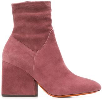 Santoni side zip ankle boots