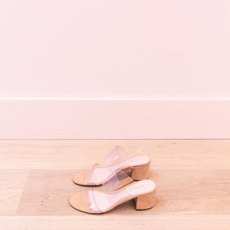 Schutz Vinyl Sandal - 36 | beige | Plain - Beige