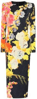 Dries Van Noten Floral crepe midi dress