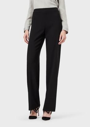 Giorgio Armani Loose-Fit Trousers In Wool Crepe