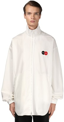 Balenciaga Logo Cotton Poplin Jacket