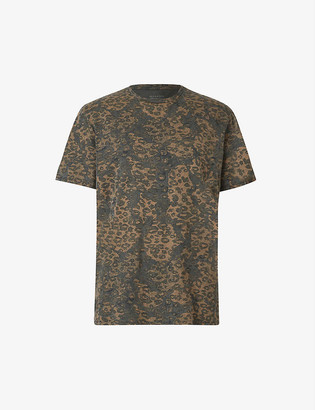 AllSaints Camo-print cotton T-shirt