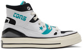 Converse White and Blue Chuck 70 E260 Sneakers