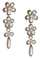Kate Spade In Full Bloom Crystal Linear Earrings