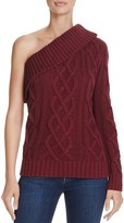 Endless Rose One-Shoulder Cable Knit Sweater