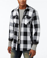 American Rag Men's Buffalo Plaid Shirt Jacket with Sherpa Lining, Only at Macy's