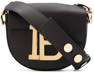 Balmain flap logo bag