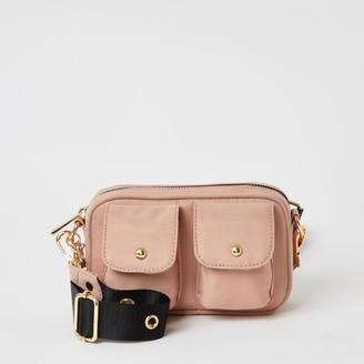 River Island Girls Pink pocket front cross body bag