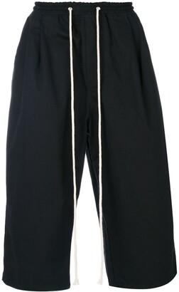 Yuiki Shimoji extra-length drawstring cargo shorts