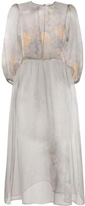 Soulland Gabi floral print sheer dress