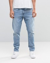 G Star G-Star Type C 3D Tapered Jeans Light Aged Restored Distressed 85
