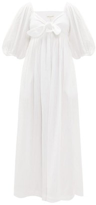 Mara Hoffman Violet Knotted Organic-cotton Midi Dress - Womens - White