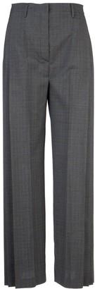 Prada Pleated Wide Leg Trousers