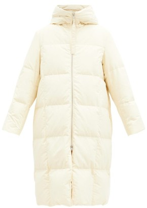 Jil Sander Harness-strap Quilted-down Shell Hooded Coat - Cream