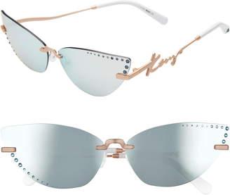 Kenzo 67mm Oversize Aviator Sunglasses