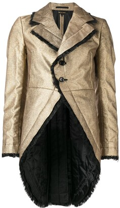 Comme des Garcons Tulle Ruffled Trim Tailcoat