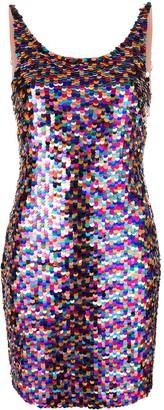 Moschino rainbow sequin mini dress