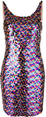 Moschino Rainbow Sequin Mini Dress