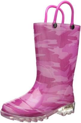 Western Chief Girls Light-Up Rain Boot Fuchsia 9 M US Toddler