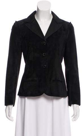 Chanel Suede Button-Up Jacket
