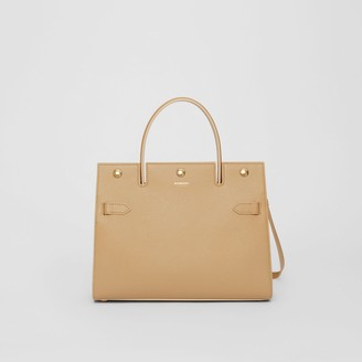 Burberry Small Leather Title Bag