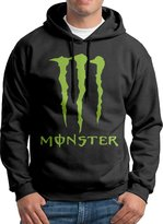 Sarah Men's Energy Drink Monster-Energy M Logo Hoodie L