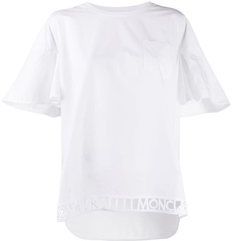 Moncler embroidered hem short-sleeve T-shirt
