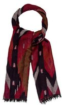 Sandro Wool Patterned Knit Scarf
