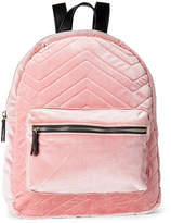 Imoshion Blush Chevron Quilted Velour Mini Backpack