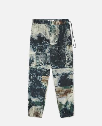 Stella McCartney earth satellite print taylor cargo trousers