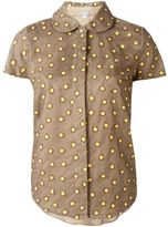 Jupe By Jackie square embroidered shirt