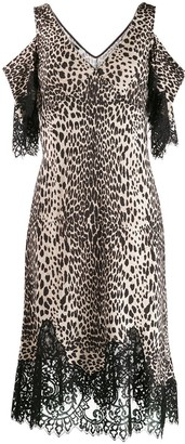 McQ leopard print slip dress