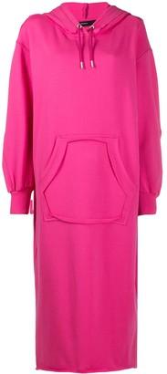 Diesel Slogan-Print Hooded Cotton Dress